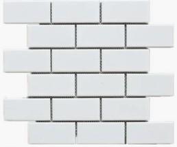 """White Tile Ceramic Subway Brick 2"""" X 4"""" Box of 10 Sqft, Wall Tile, Backsplash Ti"""