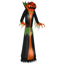 Home Accents 12 ft PRELIT INFLATABLE GHOST FLAME PUMPKIN CREEPER Hallowe... - $194.55 CAD