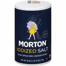 Morton Salt, Iodized, 26 Ounce - $2.13