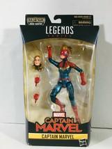 "Marvel Legends Captain Marvel 6"" Action Figure with Kree Sentry BAF Piec... - $21.75"