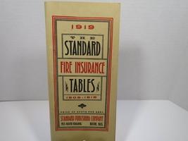 Vtg1908-1919 The Standard Fire Insurance Tables Boston Mass. Genealogy - $14.01