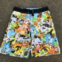 OP Ocean Pacific Men's 28 Swim Trunks Shorts Hawaiian Print - $13.55
