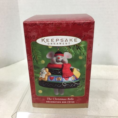 Primary image for 2000 Christmas Belle Porcelain Hallmark Christmas Tree Ornament MIB Price Tag H2