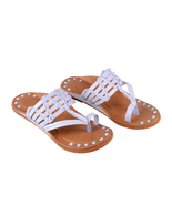 Alex Brown Handmade Ethnic Flat Slip on slippers - ₨1,995.98 INR