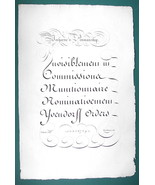 "1826 PENMANSHIP Calligraphy Verharne  - 12"" x 18"" (30 x 46 cm) Superb Pr... - $30.34"