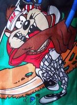 Looney Tunes Mania Tie Taz & Daffy Golfing Silk Novelty Necktie 1996 - $14.84