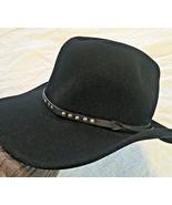BAILEY CHISHOLM BLACK WOOL COWBOY WESTERN  HAT Large - $48.46