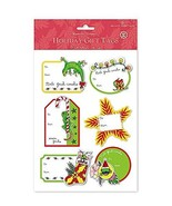3D Adhesive Hawaiian Holiday Gift Tags - Mele Geck-Imaka - $10.77