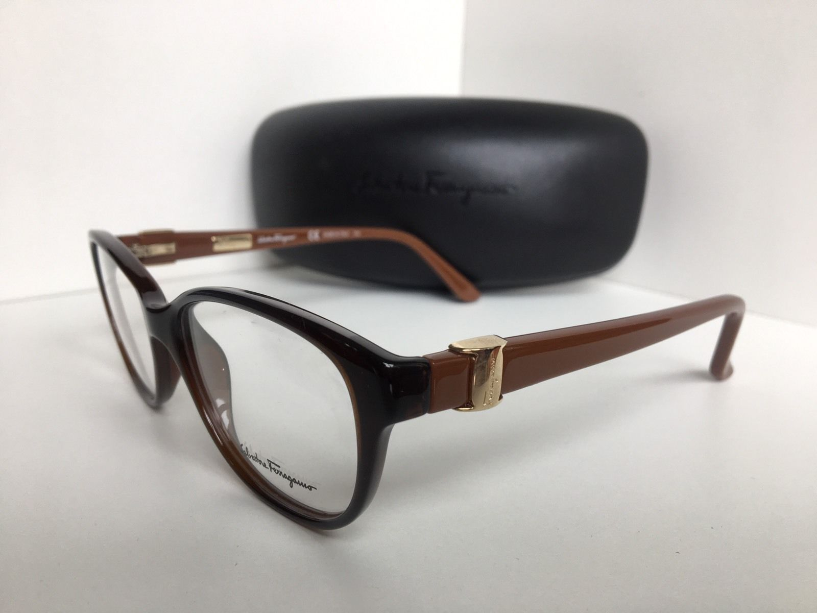 6a32fa78af New Salvatore Ferragamo SF 2711 SF2711 210 52mm Brown Women Eyeglasses Frame