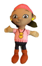 Jake Neverland Pirate Izzy Plush Doll Disney Fisher Price Girl Pirate Toy - $4.94