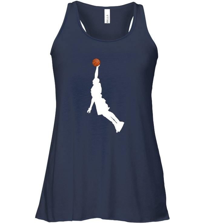 Basketball Player Dunk Silhouette Professional Sports Flowy Racerback Tank image 2