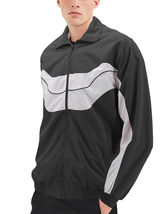 Men's Casual Running Working Out Jogging Gym Fitness Zipper Track Jacket image 3