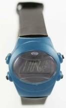 Fossil Watch Men 24h Light Date Alarm Chrono 100m Black Blue Plastic Quartz - £19.00 GBP