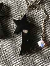 NEW AUTHENTIC CHANEL CC Shooting Star Dangle Long Earrings Crystal image 12