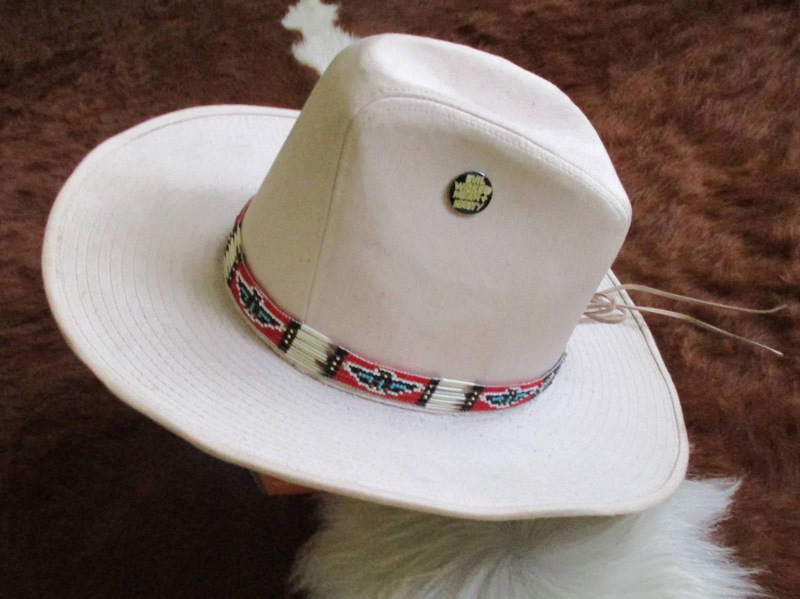 Custom Made Cowboy Style Hatband with  Porcupine Quills   Handcrafted