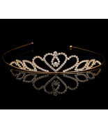 Girls Crown Hair Accessories Tiara Headband Hair Band Shiny Glitter Rhin... - €6,97 EUR