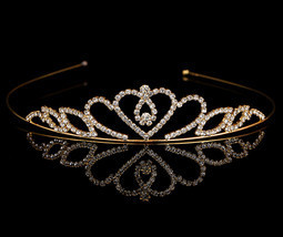 Girls Crown Hair Accessories Tiara Headband Hair Band Shiny Glitter Rhin... - £6.00 GBP
