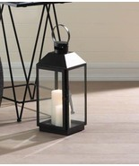 """Lot of 8 Large Contemporary Ebony Candle Lanterns 16"""" High 19.2"""" High w/... - $193.95"""