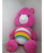 "Care Bears Cheer Bear 2015 Pink Rainbow Large 32"" Plush Stuffed Jumbo Li... - $48.99"