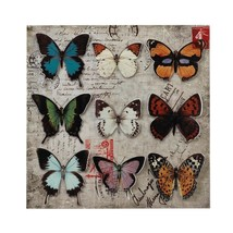 Art Wall, Butterfly Collage Metal 3d Decor Rustic Wall Art Living Room - $34.49