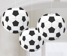 amscan Soccer Paper Lanterns, Party Decoration, Multicolor, Model:240178 - $34.61