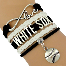 WHITE SOX Handmade Infinity Love Baseball Sports Team Bracelet - $10.00+