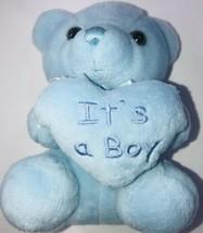 "It's a Boy Bear Plush Stuffed Animal Baby Shower Gift 6""  Light Blue - $9.87"