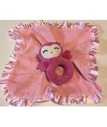 Security Blanket Baby Girl Infant Newborn Lovey Plush Owl Rattle Carters - $13.27