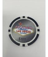 $100 LAS VEGAS NEVADA CASINO SOUVENIR POKER CHIP! cards gaming gambling ... - $9.90