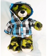 Build A bear Workshop camoflauge camo bear stuffed plush doll animal shirt - $20.80