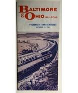 B&O RR Passenger Railroad Timetable October 29, 1961 - $9.89