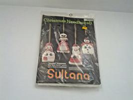 vintage Christmas needlecraft jeweled ornaments kit  no. 32004 Sultana b... - $14.85