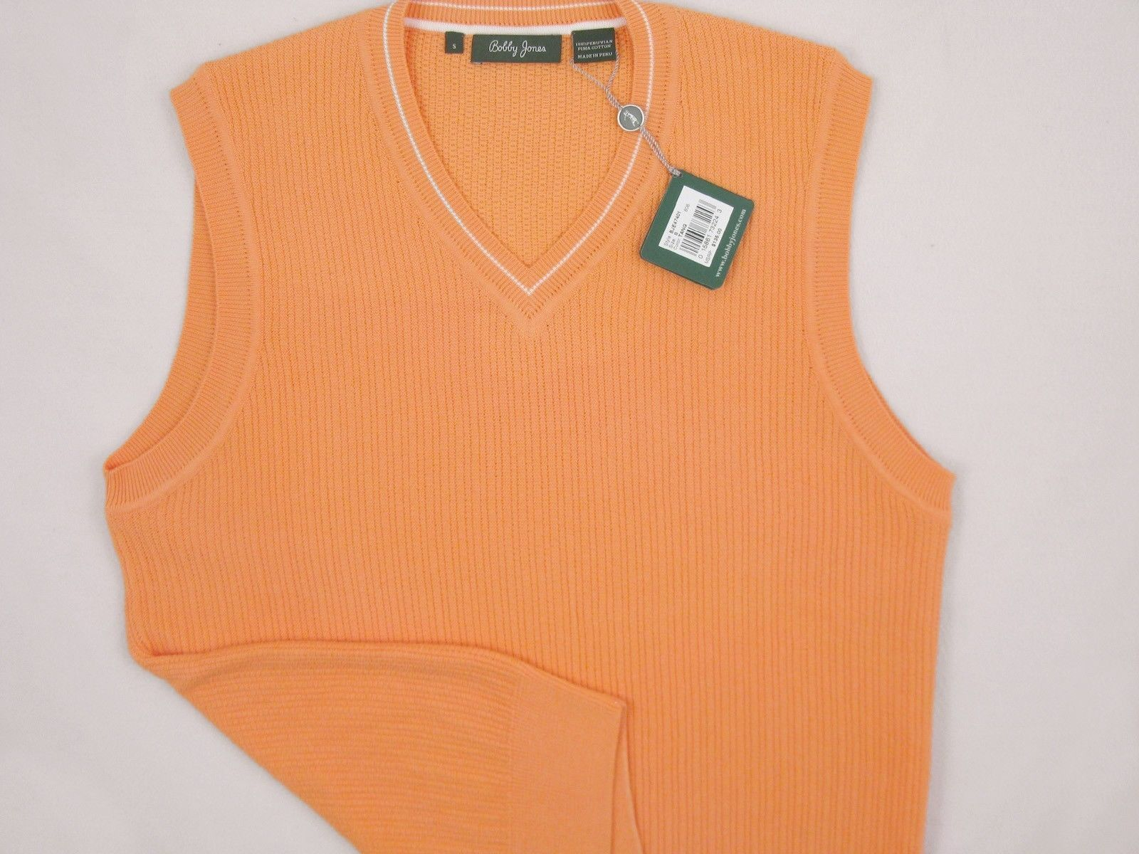 NEW! NWT! $135 Bobby Jones Collection Colorful Vest! 100% Peruvian Pima Cotton image 5