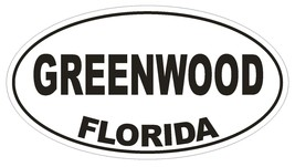 Greenwood Florida Oval Bumper Sticker or Helmet Sticker D2663 Euro Decal - $1.39+