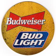Cardboard Coaster (1)Collectible Man Cave/Craft Budweiser Bud Light Beer... - $3.13