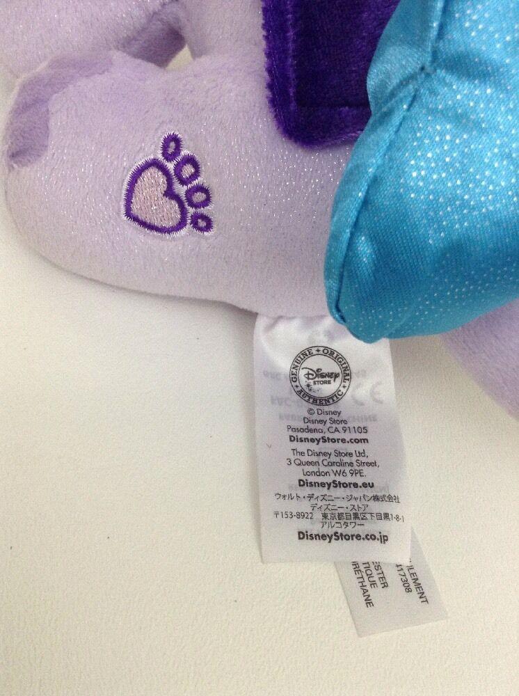 "Pets Palace Purple Taj Elephant 12"" Plush Stuffed Jasmine Pet Toy Disney Store"