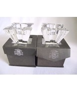 LOT OF 2 OLEG CASSINI CRYSTAL MADISON VOTIVE CANDLE HOLDER - NIB! - $39.95