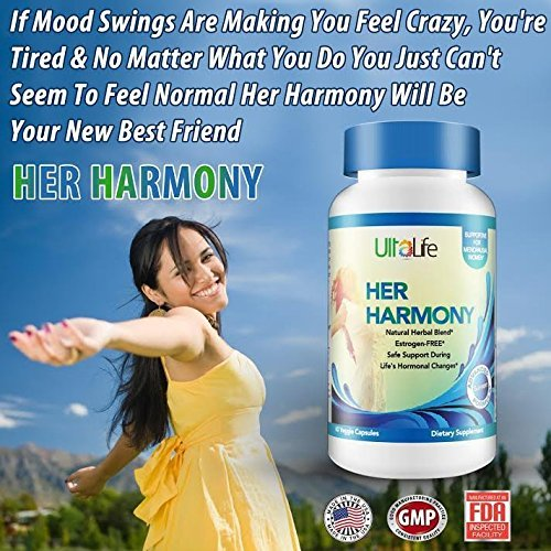 Her Harmony #1 BEST MENOPAUSE SUPPLEMENTS w/Black Cohosh - Relief From Mood Swin