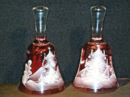 Glass Christmas Bells Lavender 322/339 AB 325 Vintage Collectible image 2