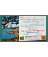 INK BLOTTER 1950s - Charlotte Amalie Virgin Islands + AD Texas Travel Ag... - $4.28