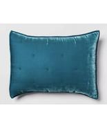 1 Opalhouse Teal Tufted Velvet Pillow Standard Pillow Sham Nwop - £13.08 GBP