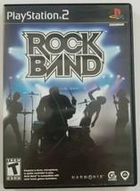 Rock Band PS2 Game Playstation 2 Harmonix 2007 - $4.19