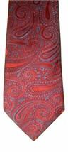 "Tommy Hilfiger Beautiful Men's Silk Neck Tie Red Blue Paisley 59"" NWOT - $18.56"