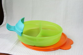 Tupperware Kids (new) CHILDREN'S DIVIDED DISH w/ 3 SECTIONS & SEAL & HANDEL - $16.94