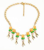 Jewelry Gold Color Orange Bubble Summer Necklaces for Women  Choker Neck... - $28.96