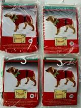 4 NOS extra small Christmas Santa elf dog pet costume Chihuahua Yorkie Pom  - $19.97
