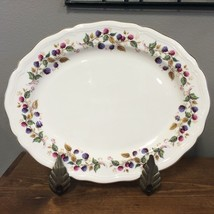 "Aynsley Bramble Time Oval Serving Platter 14"" Berries Scalloped England ... - $121.51"