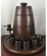 Vintage Urn  Hard Wooden Decor - $28.05