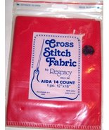 "Cross Stitch Fabric Aida 14 Count (Color Red) 12"" X 18"" (1 Pc.) - $19.99"
