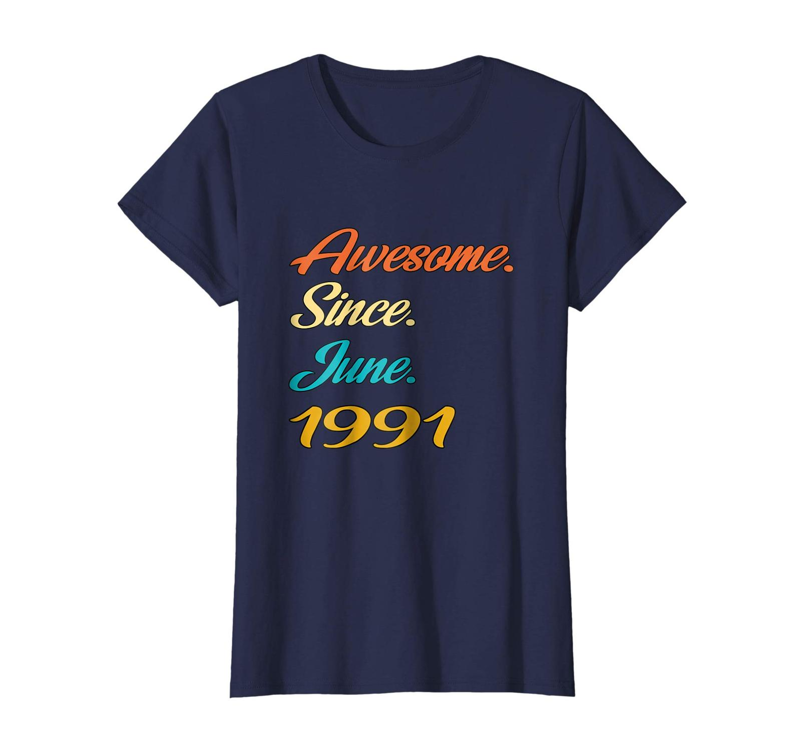 Uncle Shirts -   27th Birthday Gift Years old Awesome Since June 1991 Shirt Wowe image 3
